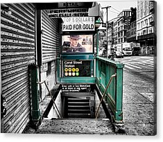 Canal Street Station Acrylic Print by Bennie Reynolds