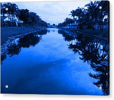 Canal View Acrylic Print by Val Oconnor