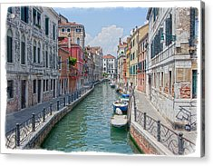 Canals Of Venice Acrylic Print by Judy Deist