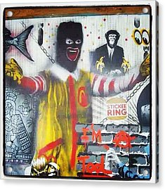 #canart #spraycan #graffitiart Acrylic Print
