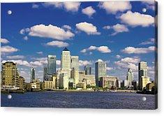 Canary Wharf Daytime Acrylic Print by Darkerphoto