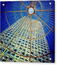 Canary Wharf Gold Acrylic Print