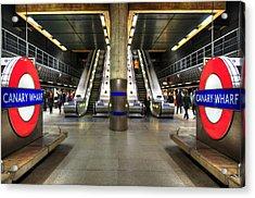Canary Wharf Station Acrylic Print by Svetlana Sewell