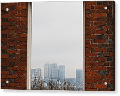 Acrylic Print featuring the photograph Canary Wharf View by Maj Seda