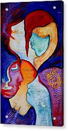 Cancer 7 Faces Of Grieving Acrylic Print by Claudia Fuenzalida Johns