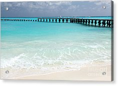 Acrylic Print featuring the photograph Cancun by Milena Boeva