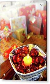 Candle And Balls Acrylic Print