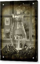 Candle And Window Acrylic Print by Steven Ainsworth
