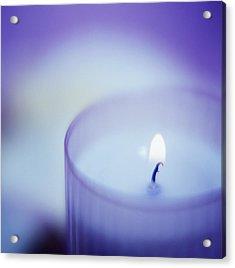 Candle Acrylic Print by Cristina Pedrazzini