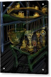 Candle Glow Acrylic Print by Russell Pierce