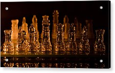 Candle Lit Chess Men Acrylic Print