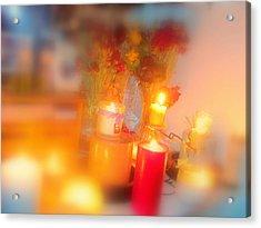 Candle Llight Acrylic Print by Amy Bradley