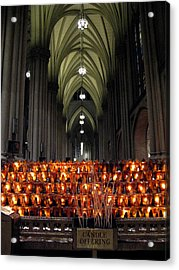 Candle Offering Acrylic Print