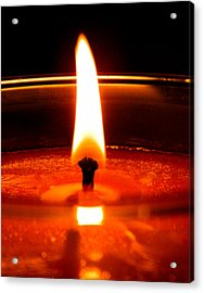 Acrylic Print featuring the photograph Candlelight by Ester  Rogers