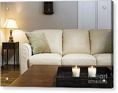 Candlelit Living Room Acrylic Print