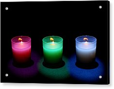 Candles Acrylic Print by Cale Best