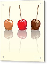 Candy Apples Reflected Acrylic Print by Jane Rix