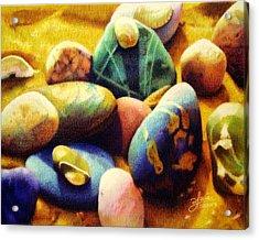 Candy Beach Acrylic Print by Bleuie  Acosta