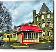 Candy Corner And Chatauqua Tower Acrylic Print by Steven Ainsworth