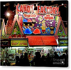 Acrylic Print featuring the photograph Candy Factory by Renee Trenholm