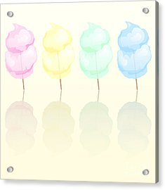 Candy Floss Acrylic Print by Jane Rix