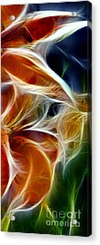 Candy Lily Fractal Panel 3 Acrylic Print by Peter Piatt
