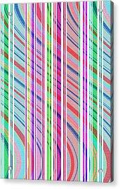 Candy Stripe Acrylic Print by Louisa Knight