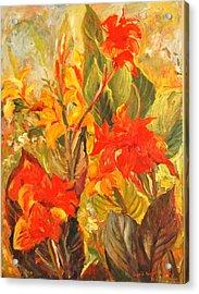 Canna Lilies Acrylic Print
