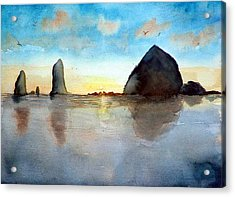 Cannon Beach Sunset Acrylic Print