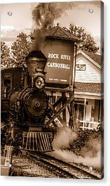 Cannonball Express In Sepia Acrylic Print