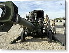 Cannoneers Train With The M777 Acrylic Print by Stocktrek Images