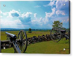 Cannons Acrylic Print by Justin Mac Intyre