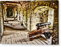 Cannons Of Dover Acrylic Print by Wendy White
