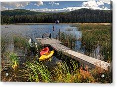 Canoe Canada Acrylic Print by Peter Olsen