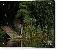 Canoe Green Thumbed Acrylic Print