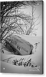 Canoe Hibernation Acrylic Print by Mark David Zahn Photography