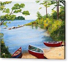 Canoe Inlet Acrylic Print by Pauline Ross