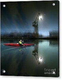 Canoe Travelling Dream Acrylic Print by Rosa Cobos