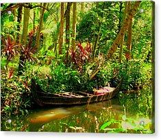 Canoe Acrylic Print by Vinod Nair