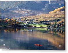 Acrylic Print featuring the photograph Canoeing On Loch Goil by Lynn Bolt
