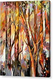 Acrylic Print featuring the painting Cant See The Forest For The Trees by Rae Andrews