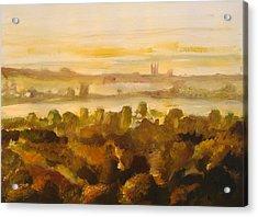 Canterbury Autumnal Haze Acrylic Print by Paul Mitchell