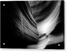 Canyon Curves In Black And White Acrylic Print by Christine Till