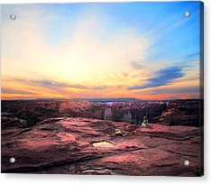 Canyon Sunset Acrylic Print by Ric Soulen