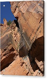 Canyon Walls Acrylic Print by Marta Alfred