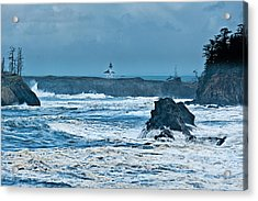 Cape Arago Light House Acrylic Print by Alvin Kroon