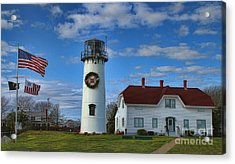 Acrylic Print featuring the photograph Cape Cod Chatham Lighthouse by Gina Cormier