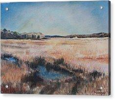 Cape Cod Marsh Acrylic Print by Geoffrey Workman