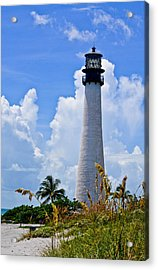 Cape Florida Lighthouse Acrylic Print by Julio n Brenda JnB