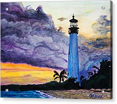 Cape Florida Lighthouse Acrylic Print by Roger Wedegis